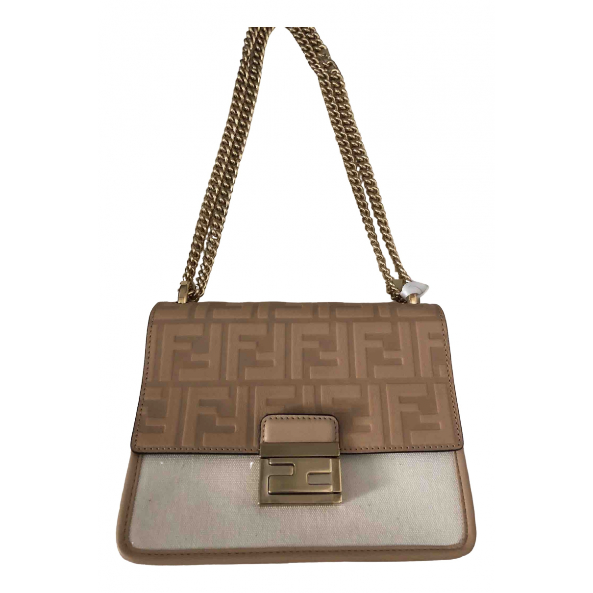 Fendi Kan U Beige Leather handbag for Women \N