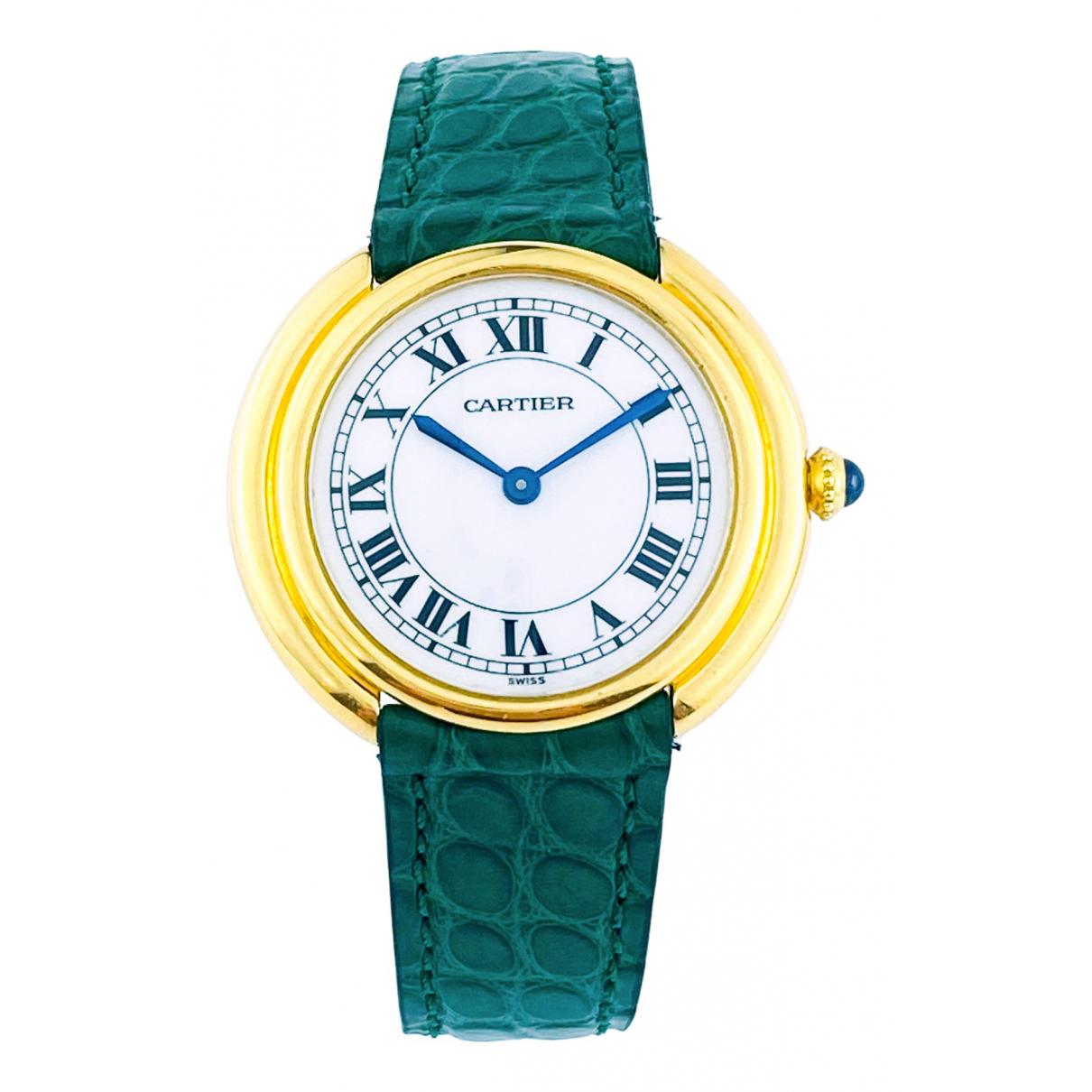 Cartier Ronde Louis Cartier Gold Yellow gold watch for Men \N