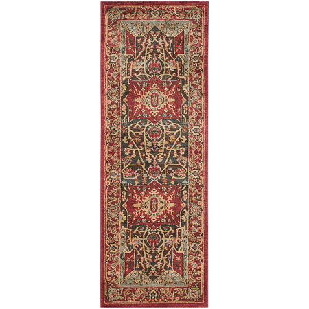Safavieh Mahal Collection Alfonso Oriental Runner Rug, One Size , Red