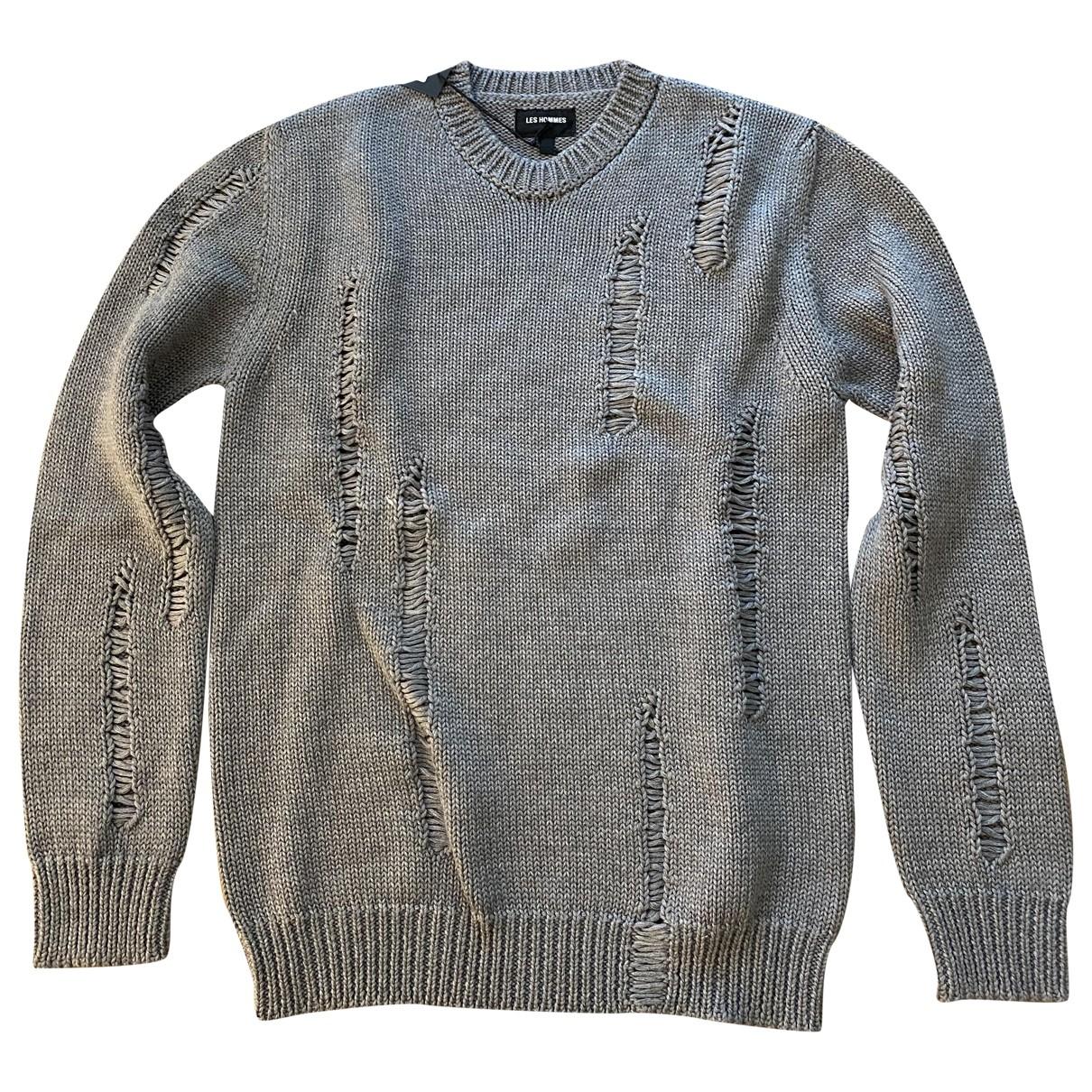 Les Hommes \N Pullover.Westen.Sweatshirts  in  Grau Wolle