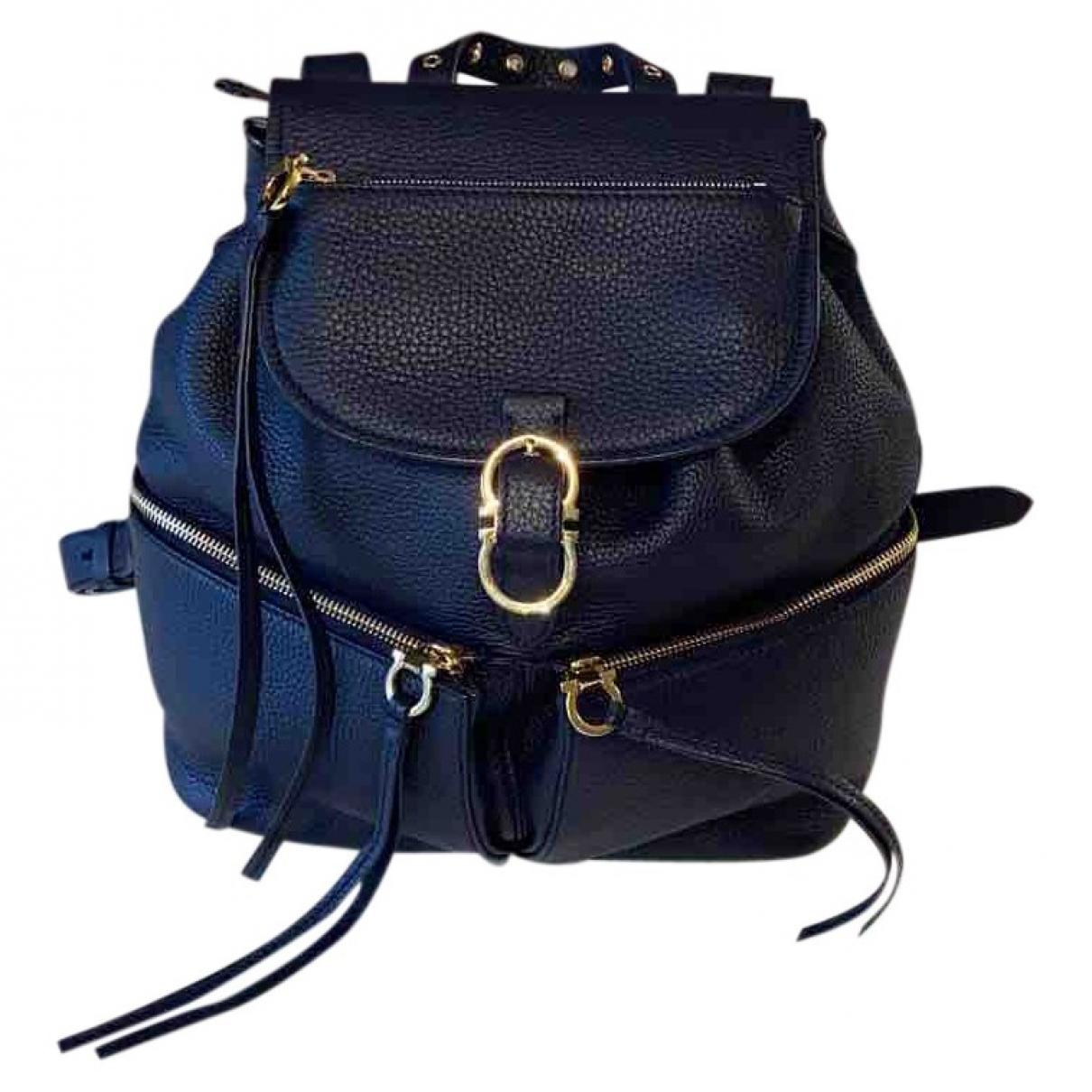 Salvatore Ferragamo \N Black Leather backpack for Women \N