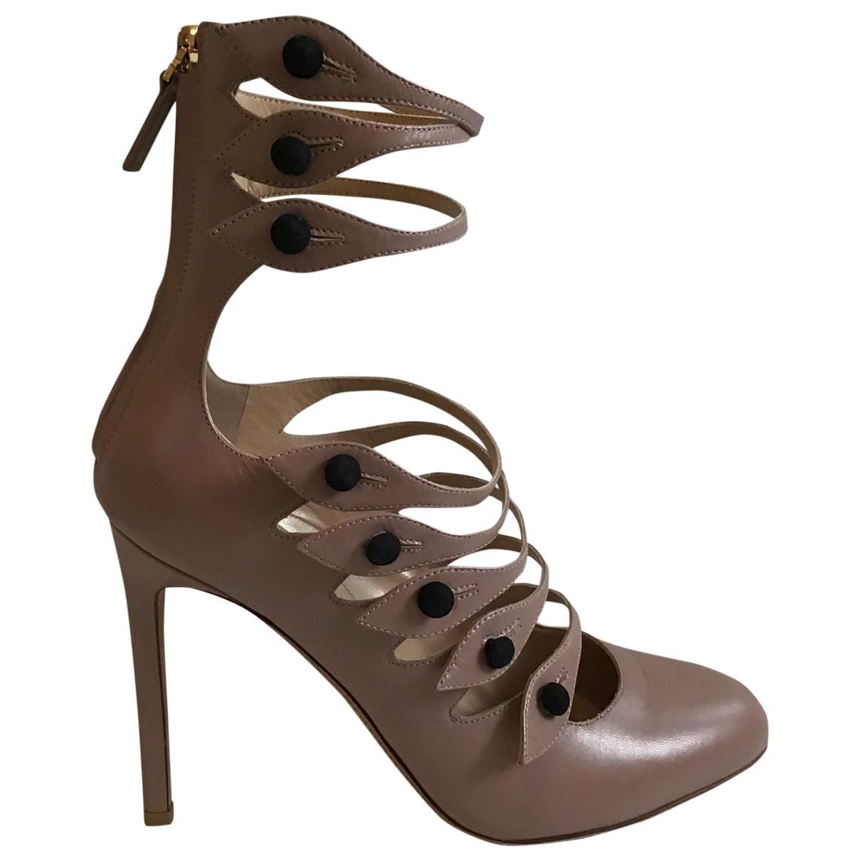 Valentino Garavani \N Pink Leather Heels for Women 38 EU