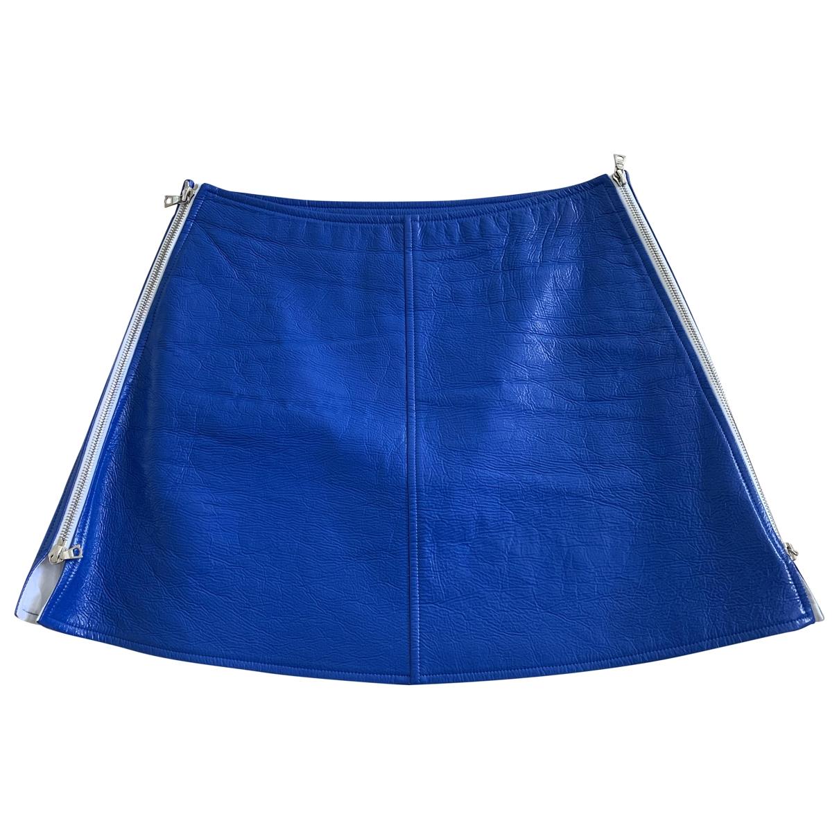 Courreges - Jupe   pour femme en coton - bleu