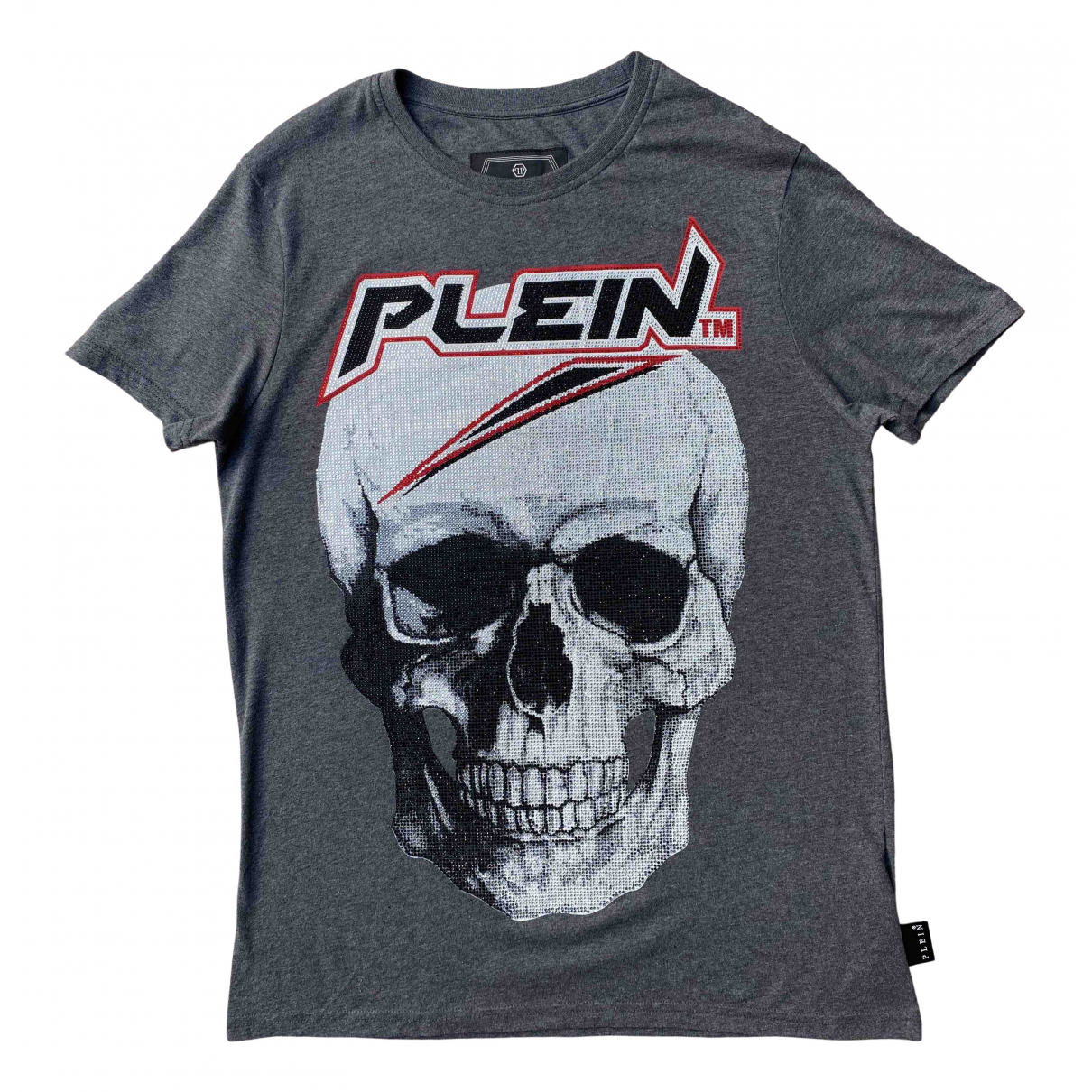 Philipp Plein - Tee shirts   pour homme en coton - gris