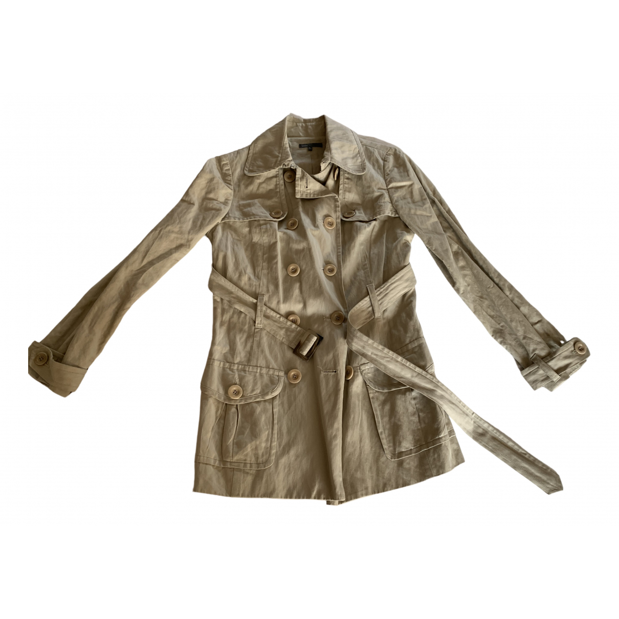 Vince - Manteau   pour femme en coton - beige