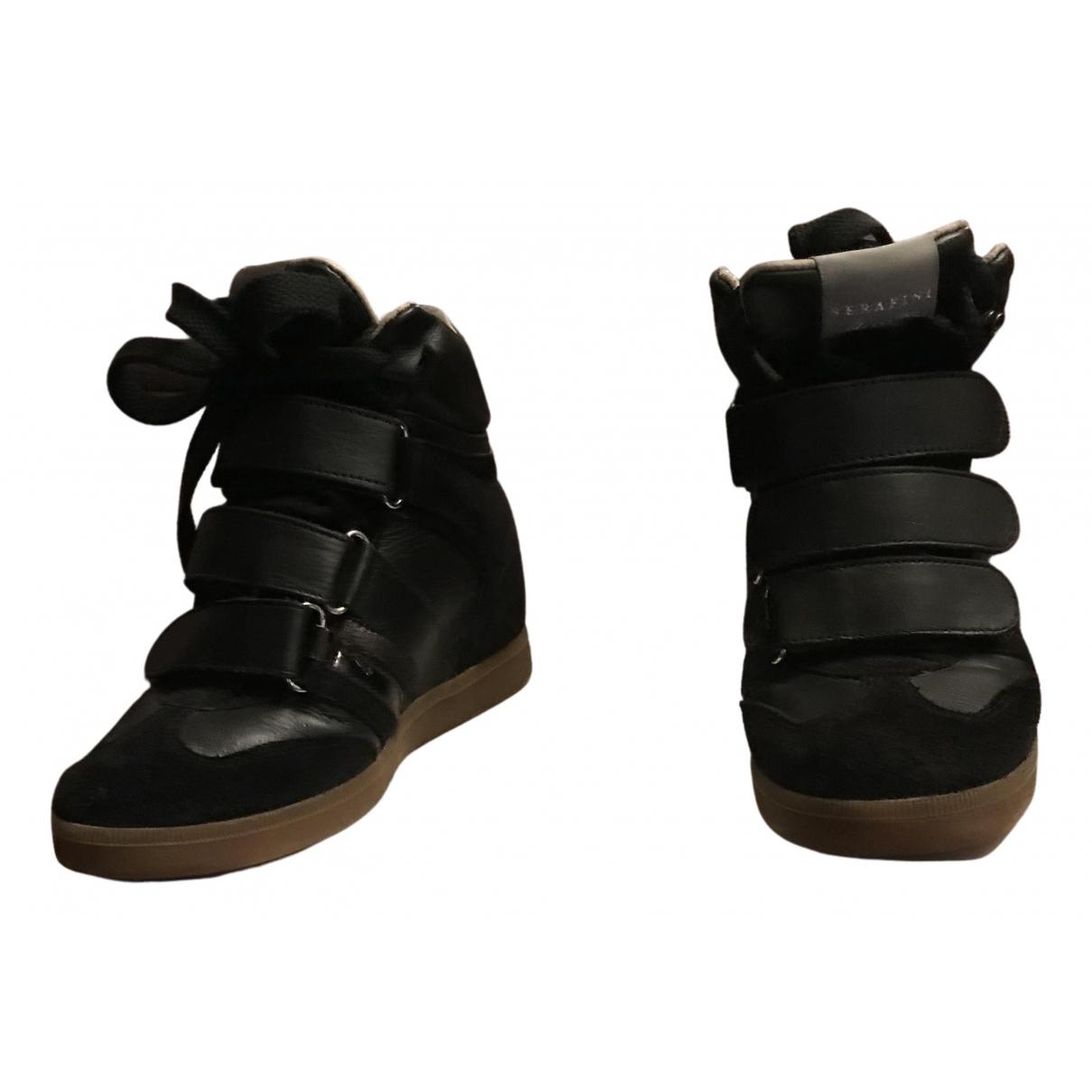Serafini Manhattan Stiefeletten in  Schwarz Leder