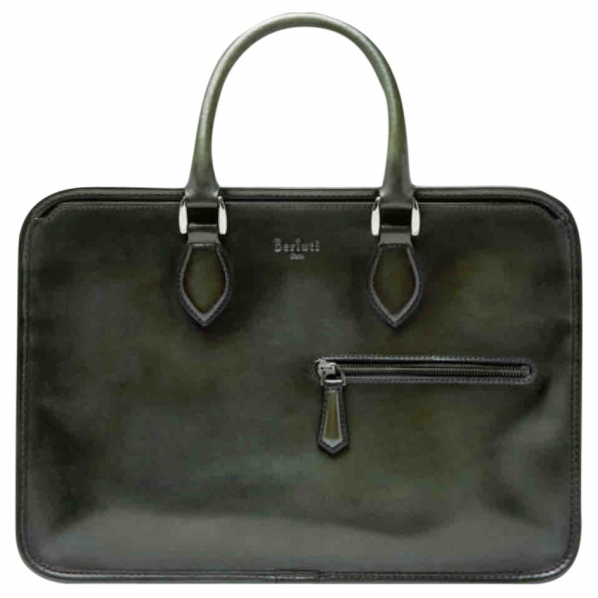 Berluti \N Green Leather bag for Men \N