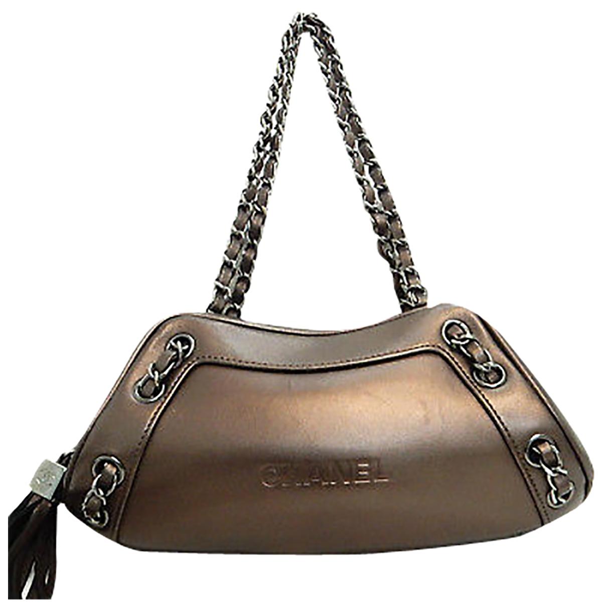 Chanel - Sac a main   pour femme en metal - marron