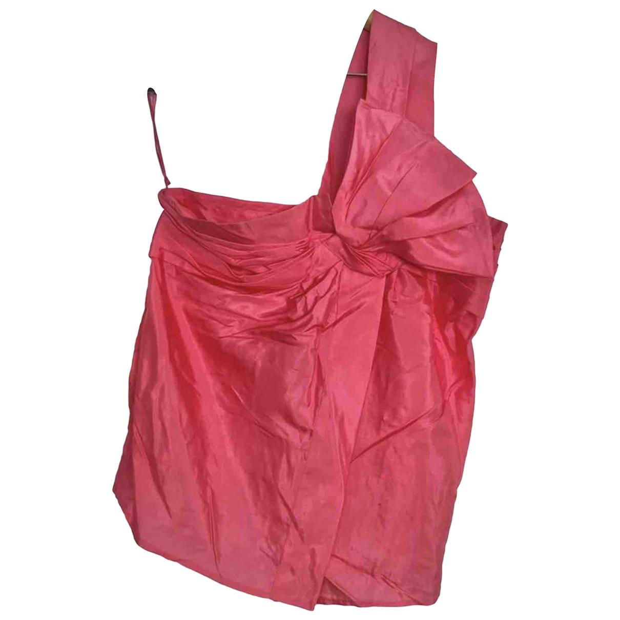 Gucci - Top   pour femme en soie - rose