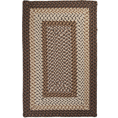 Colonial Mills Sausalito Reversible Braided Indoor/Outdoor Rectangular Rug, One Size , Brown
