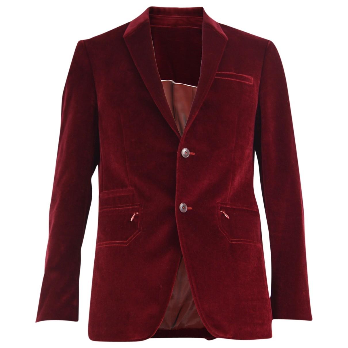 Mugler \N Jacke in  Rot Baumwolle
