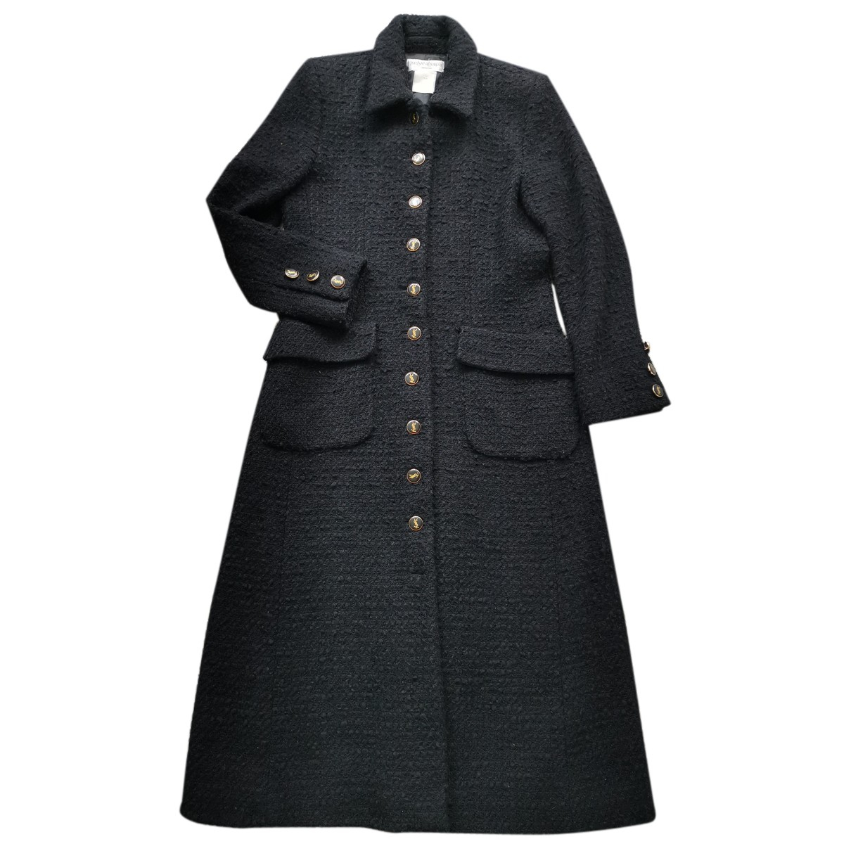 Yves Saint Laurent N Black Tweed coat for Women 38 FR