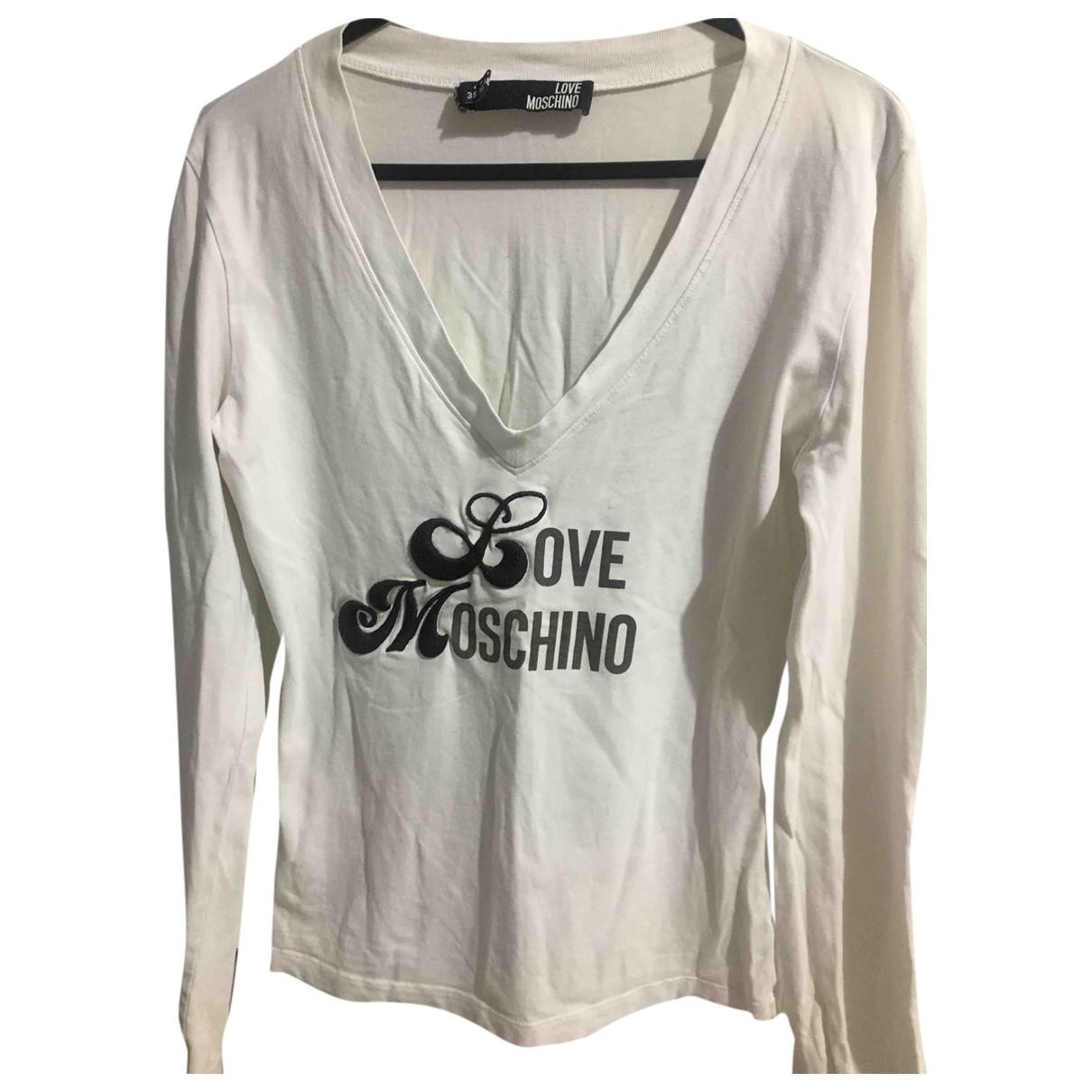 Moschino Love - Top   pour femme en coton - blanc