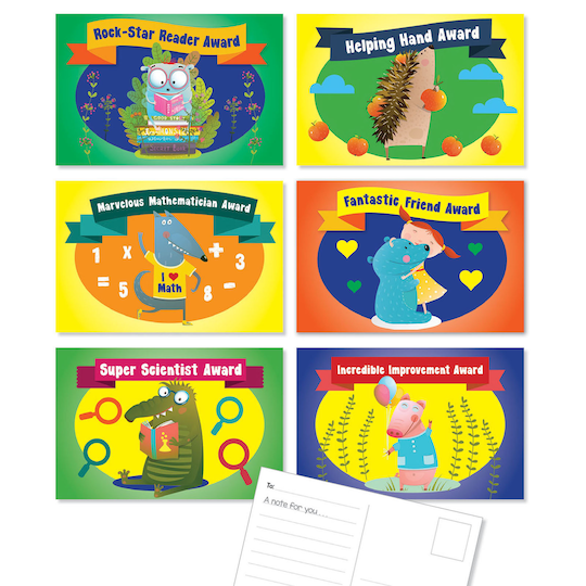 Scholastic® Classroom Awards Postcards, 3 Packs Of 36 | Michaels®