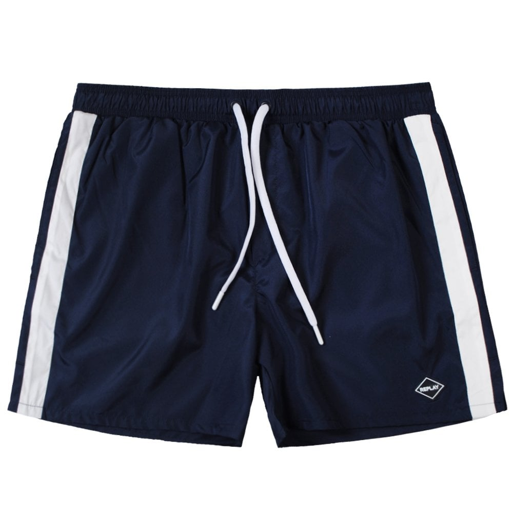Replay Taped Swim Shorts Navy Colour: NAVY, Size: SMALL