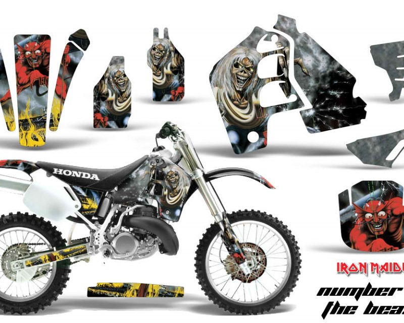 AMR Racing Dirt Bike Graphics Kit MX Decal Wrap For Honda CR500 CR 500 1989-2001áIM NOTB