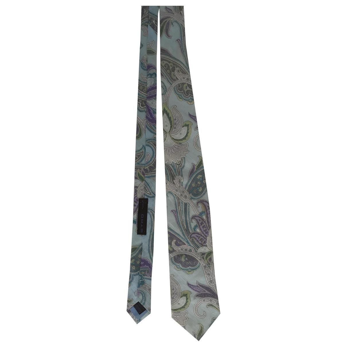 Etro - Cravates   pour homme en coton - multicolore