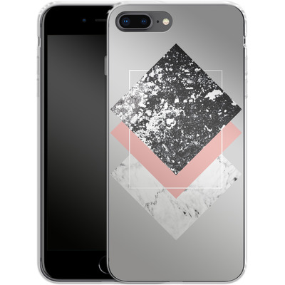 Apple iPhone 7 Plus Silikon Handyhuelle - Geometric Textures 1 von Mareike Bohmer
