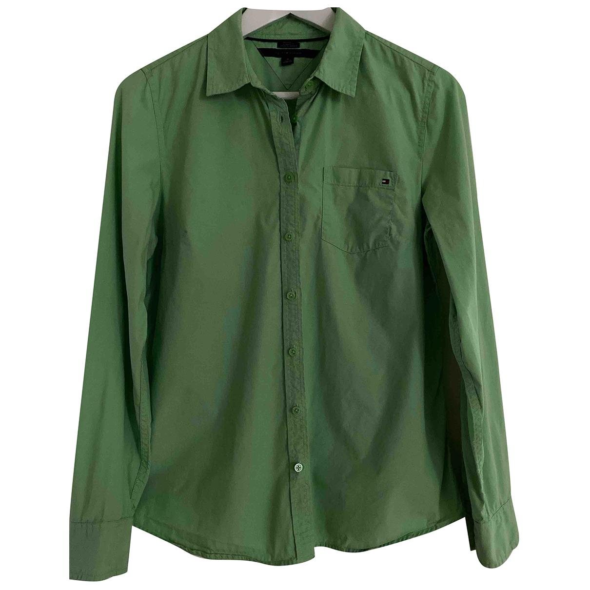 Tommy Hilfiger - Top   pour femme en coton - vert
