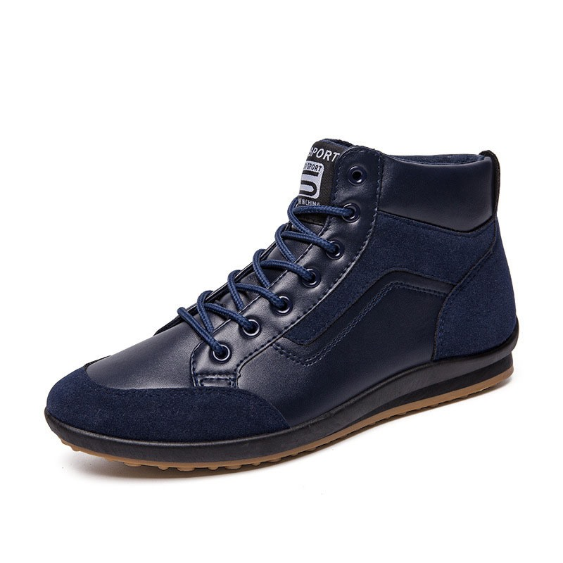 Ericdress Lace-Up Mid-Cut Upper Flat With Round Toe Skate Shoes