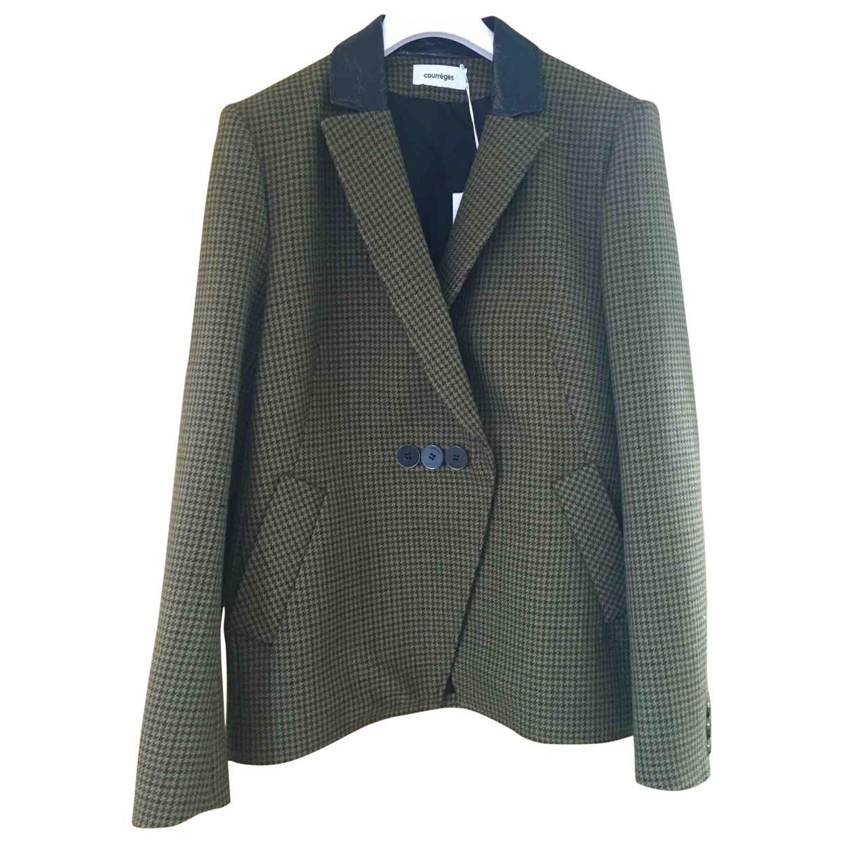 Courrèges \N Khaki Wool jacket for Women 40 FR