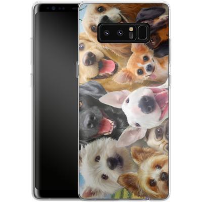 Samsung Galaxy Note 8 Silikon Handyhuelle - Dogs Selfie von Howard Robinson
