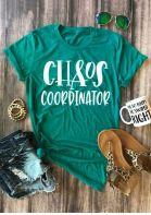 Chaos Coordinator O-Neck Short Sleeve T-Shirt