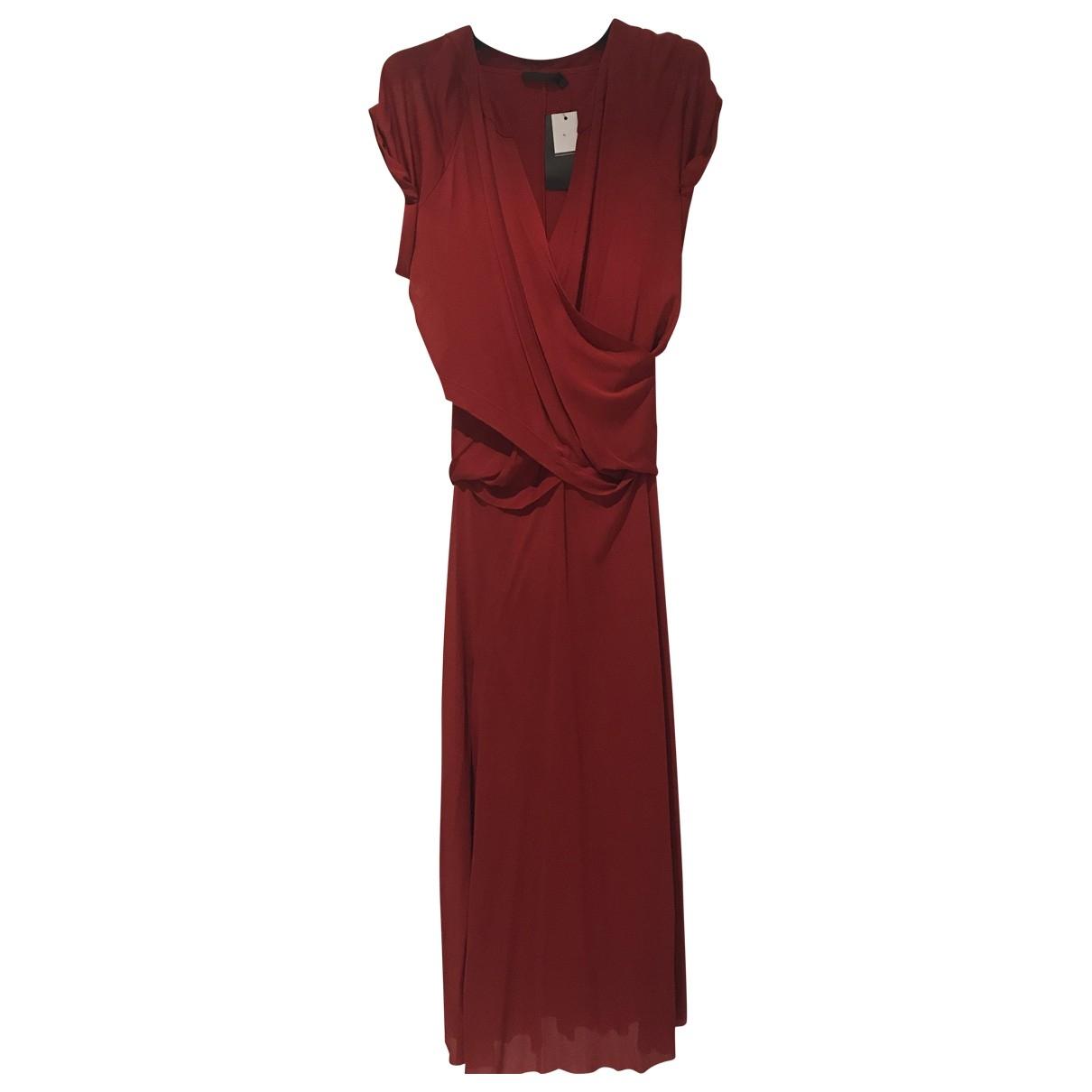 Donna Karan \N Kleid in  Rot Viskose