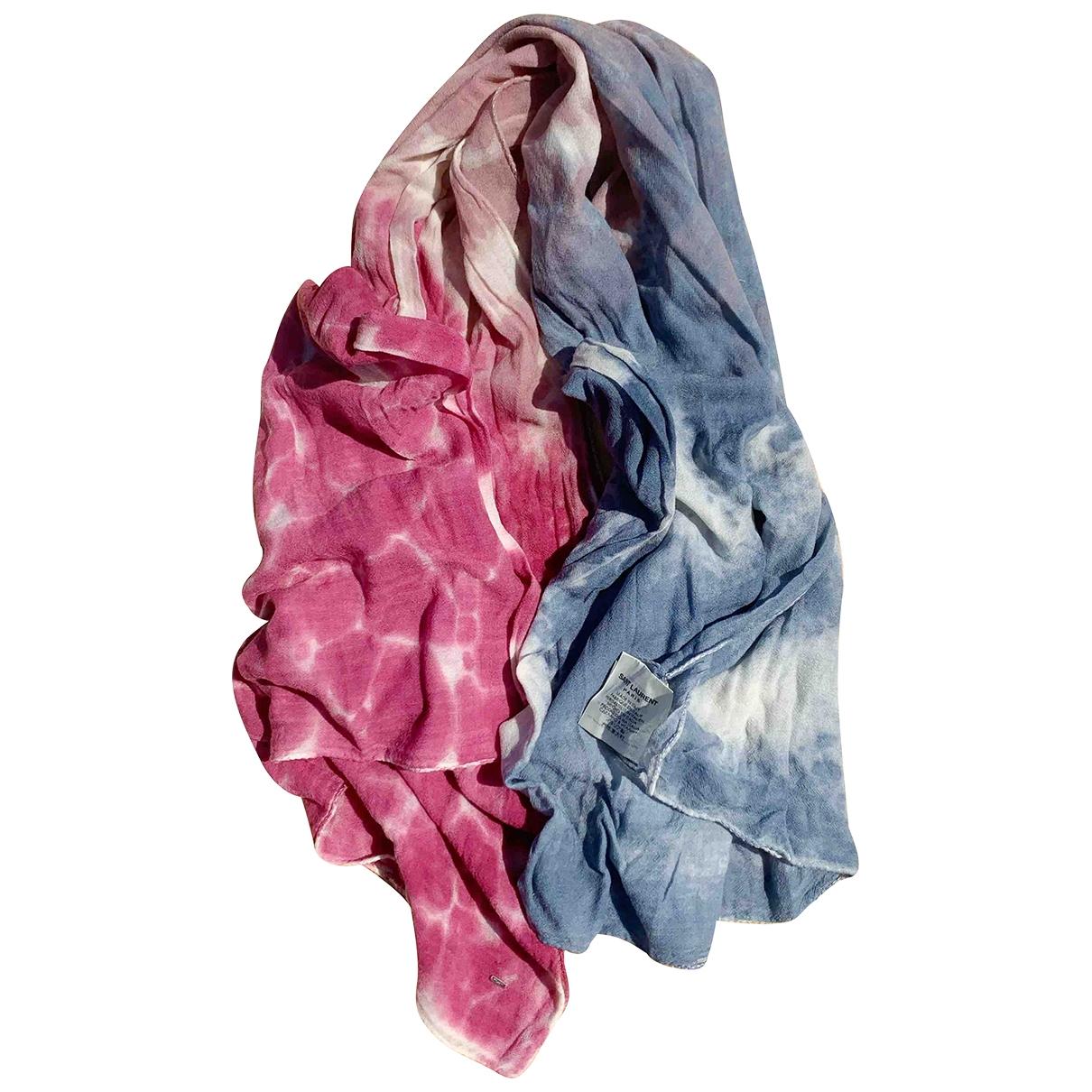 Saint Laurent \N Multicolour Wool scarf for Women \N