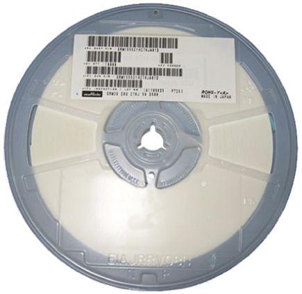 Murata , 0603 (1608M) 5.6pF Multilayer Ceramic Capacitor MLCC 50V dc ±0.5pF , SMD GRM1885C1H5R6DA01D (4000)