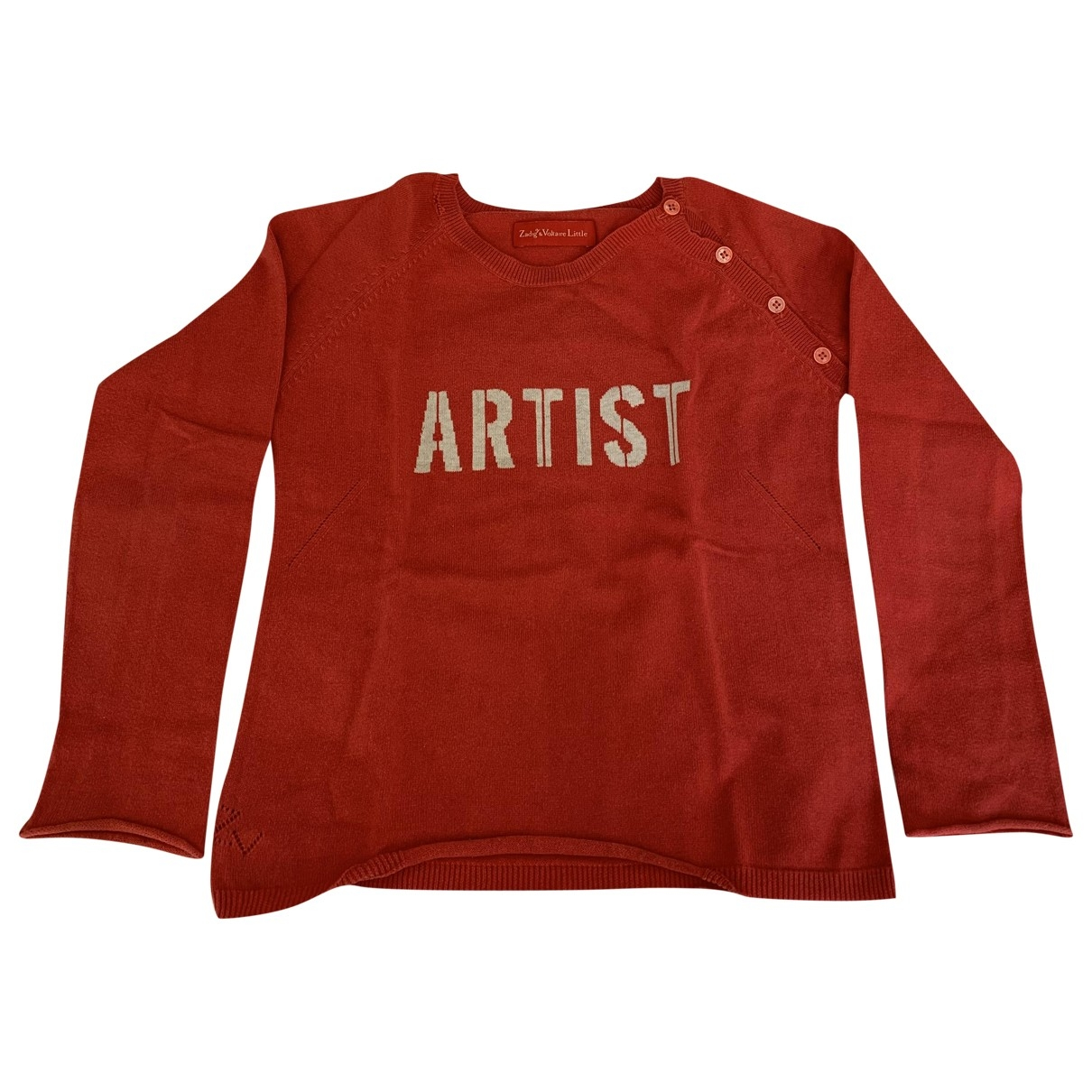 Zadig & Voltaire \N Red Cotton Knitwear for Kids 10 years - up to 142cm FR