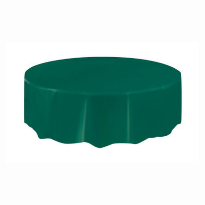 Party Plastic Table Cover Round, Forest Green 84