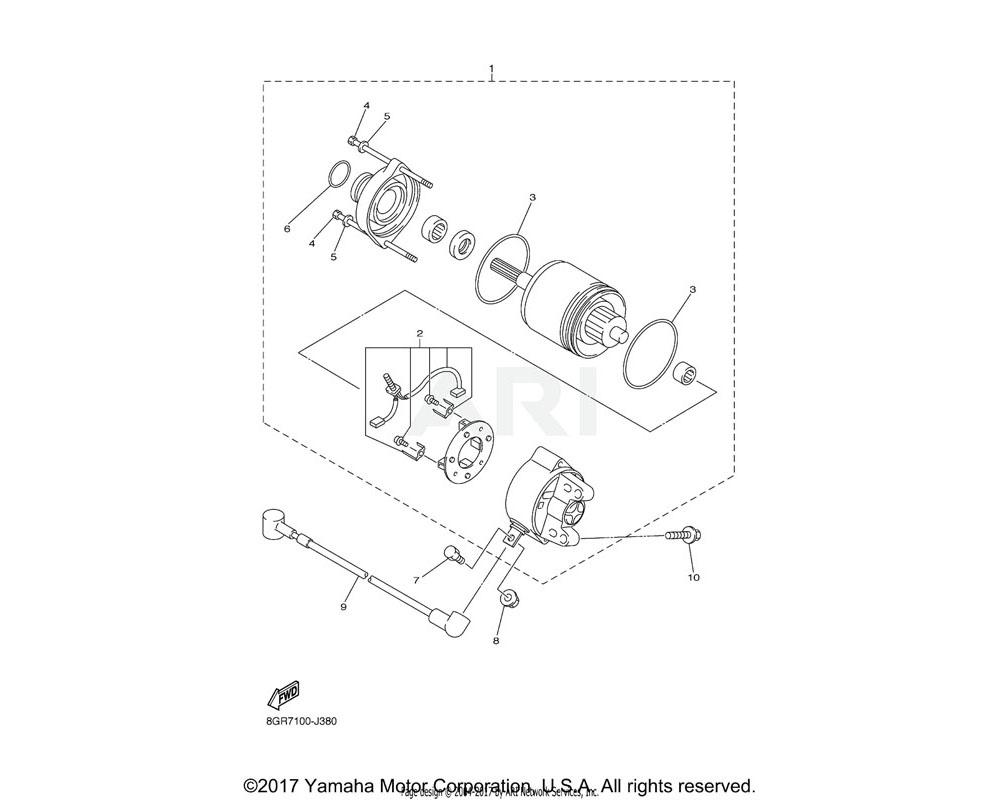 Yamaha OEM 8GC-8181L-00-00 WASHER, PLAIN