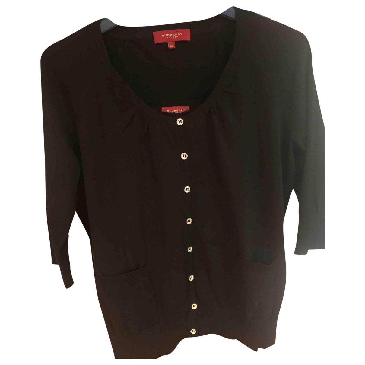 Burberry \N Black Cotton Knitwear for Women 44 FR