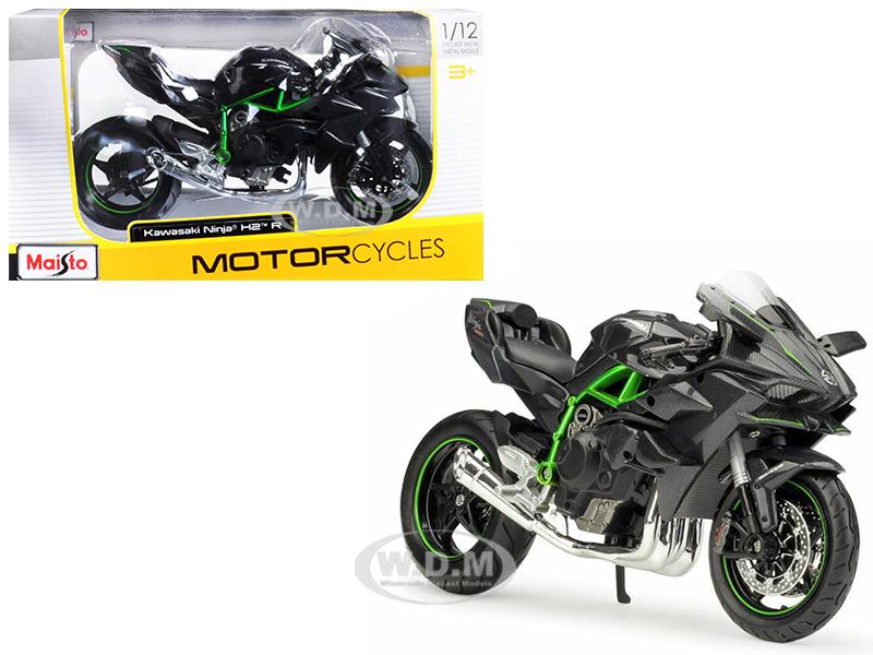 Kawasaki Ninja H2 R Black and Carbon 1/12 Diecast Motorcycle Model by Maisto