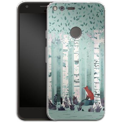 Google Pixel Silikon Handyhuelle - Birches von Little Clyde
