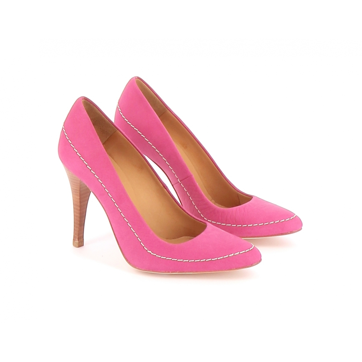 Vanessa Bruno Athe \N Pink Leather Heels for Women 39 EU