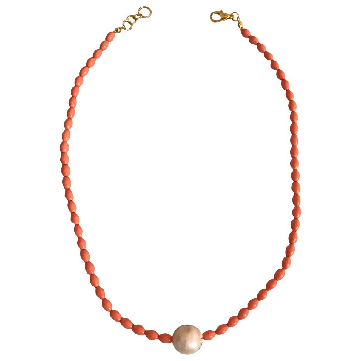 - Collier   pour femme en perles - rouge