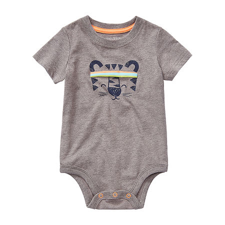 Okie Dokie Baby Boys Bodysuit, Newborn , Gray