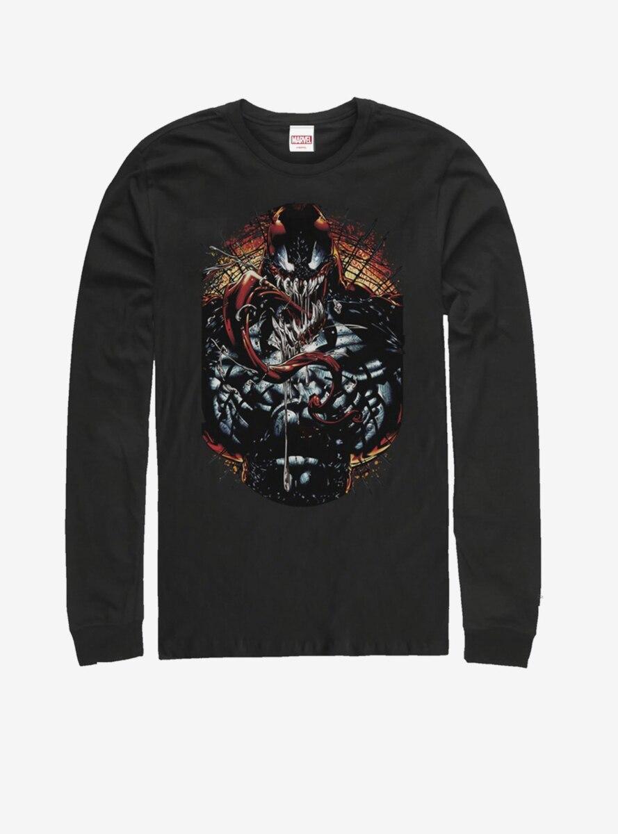 Marvel Venom Dark Red Long-Sleeve T-Shirt