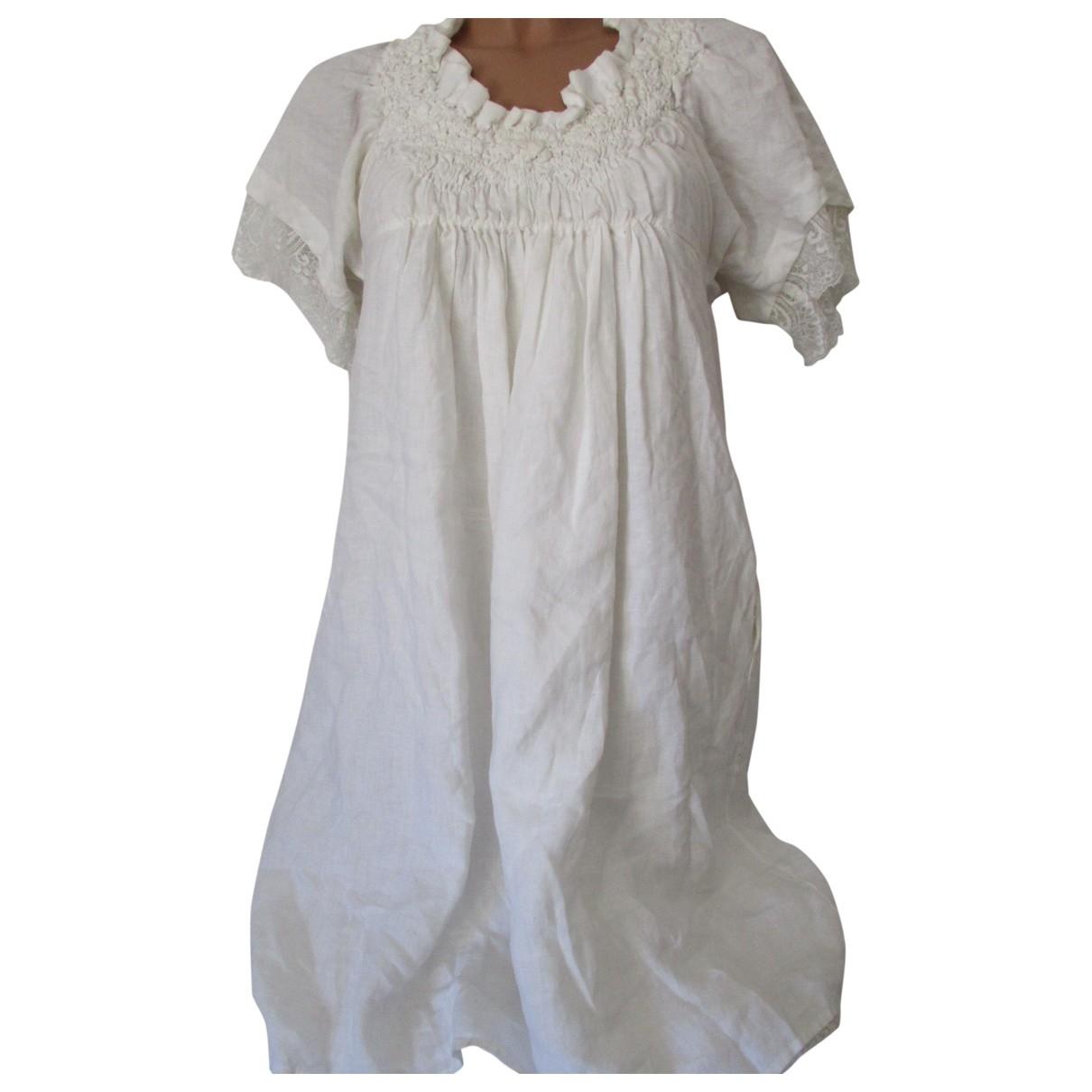 Twin Set \N Kleid in  Weiss Leinen