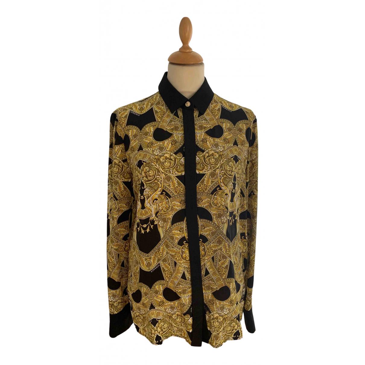 Versace \N Yellow Silk  top for Women 44 IT