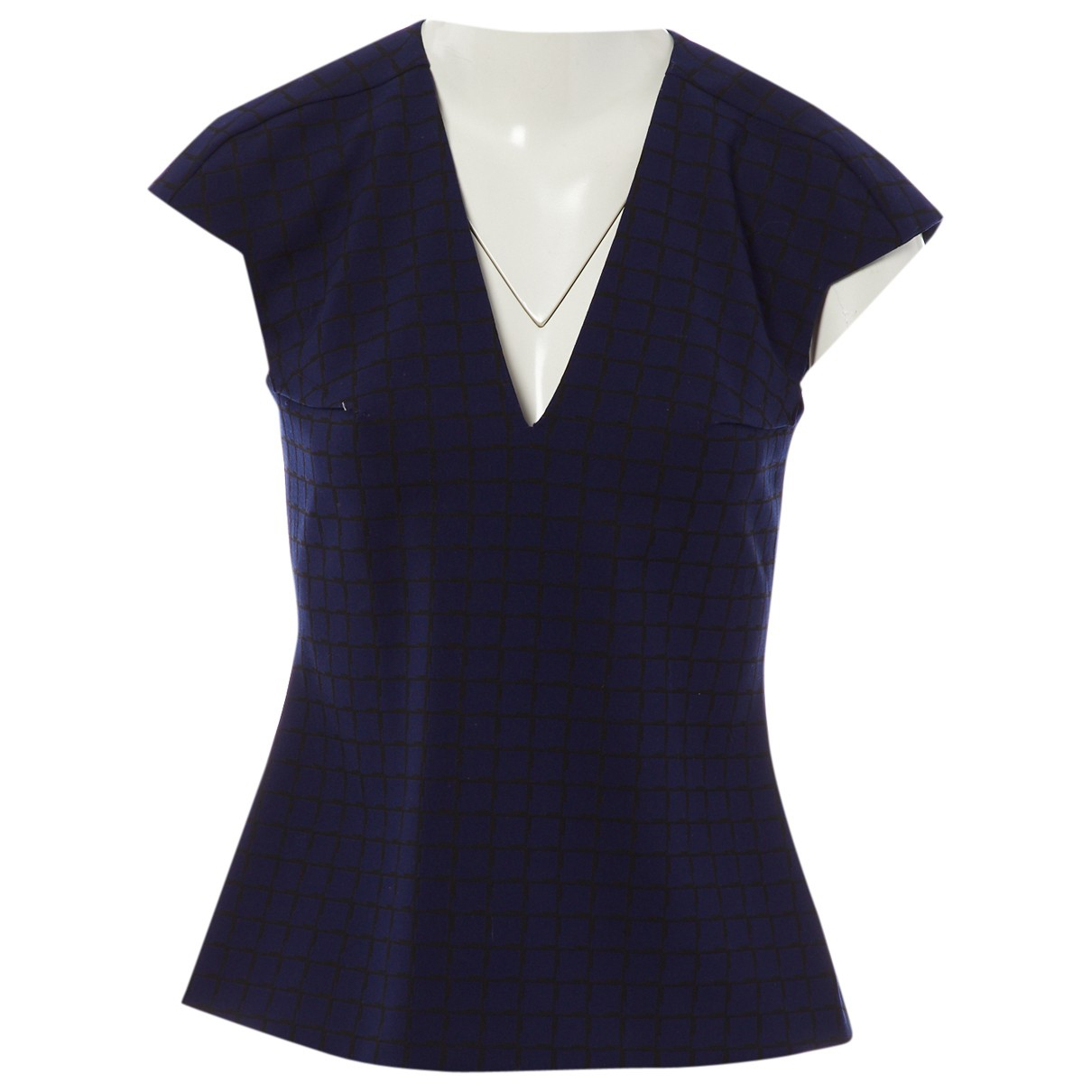 Roland Mouret \N Top in  Marine Polyester