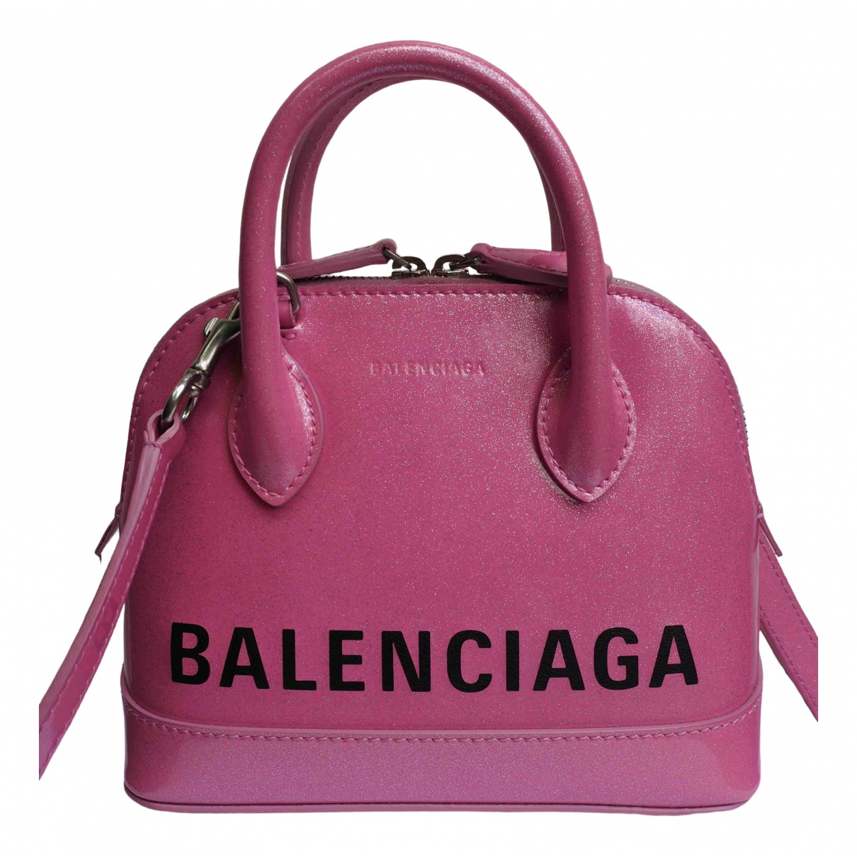 Balenciaga Ville Top Handle Pink Leather handbag for Women \N