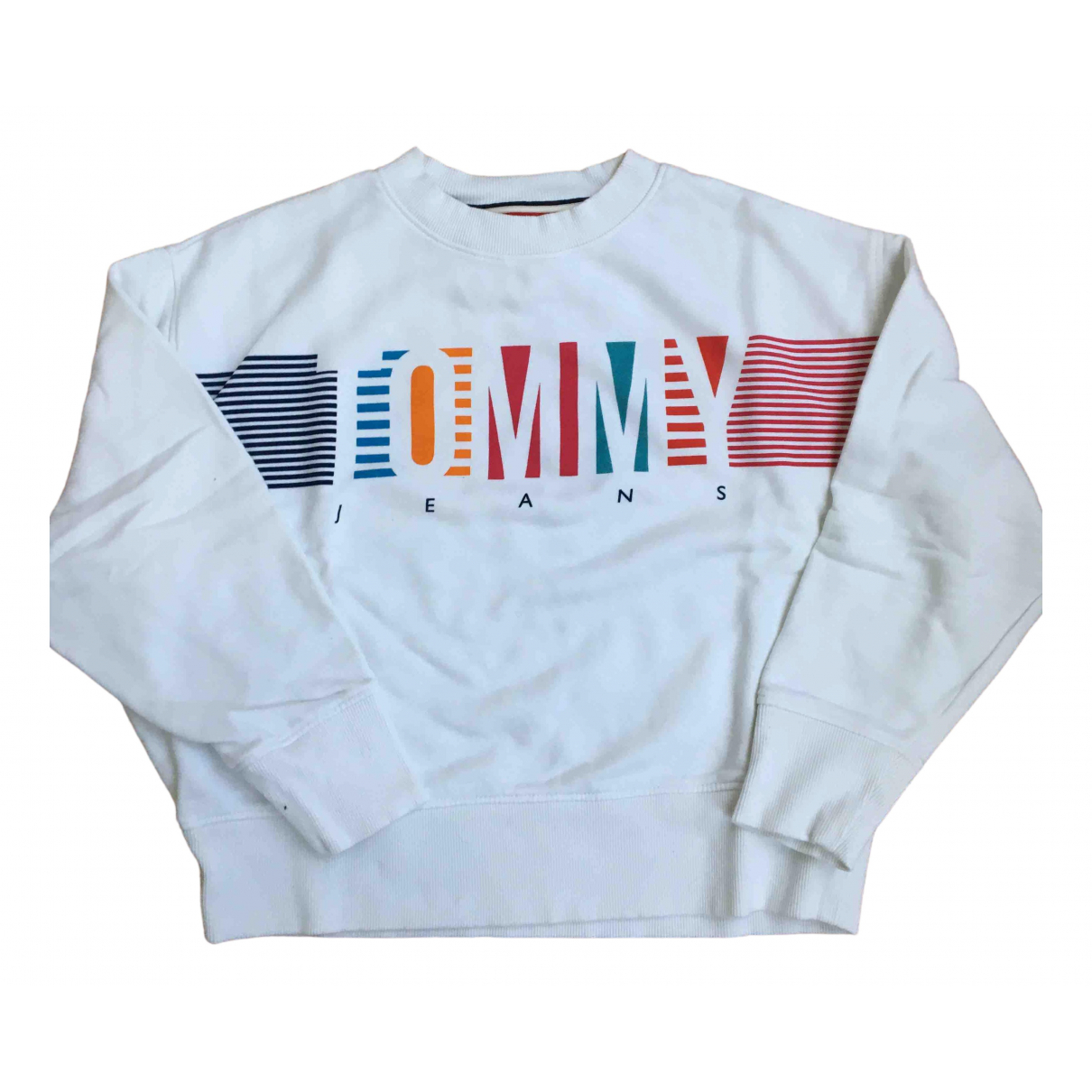 Tommy Jeans \N Pullover in  Weiss Baumwolle