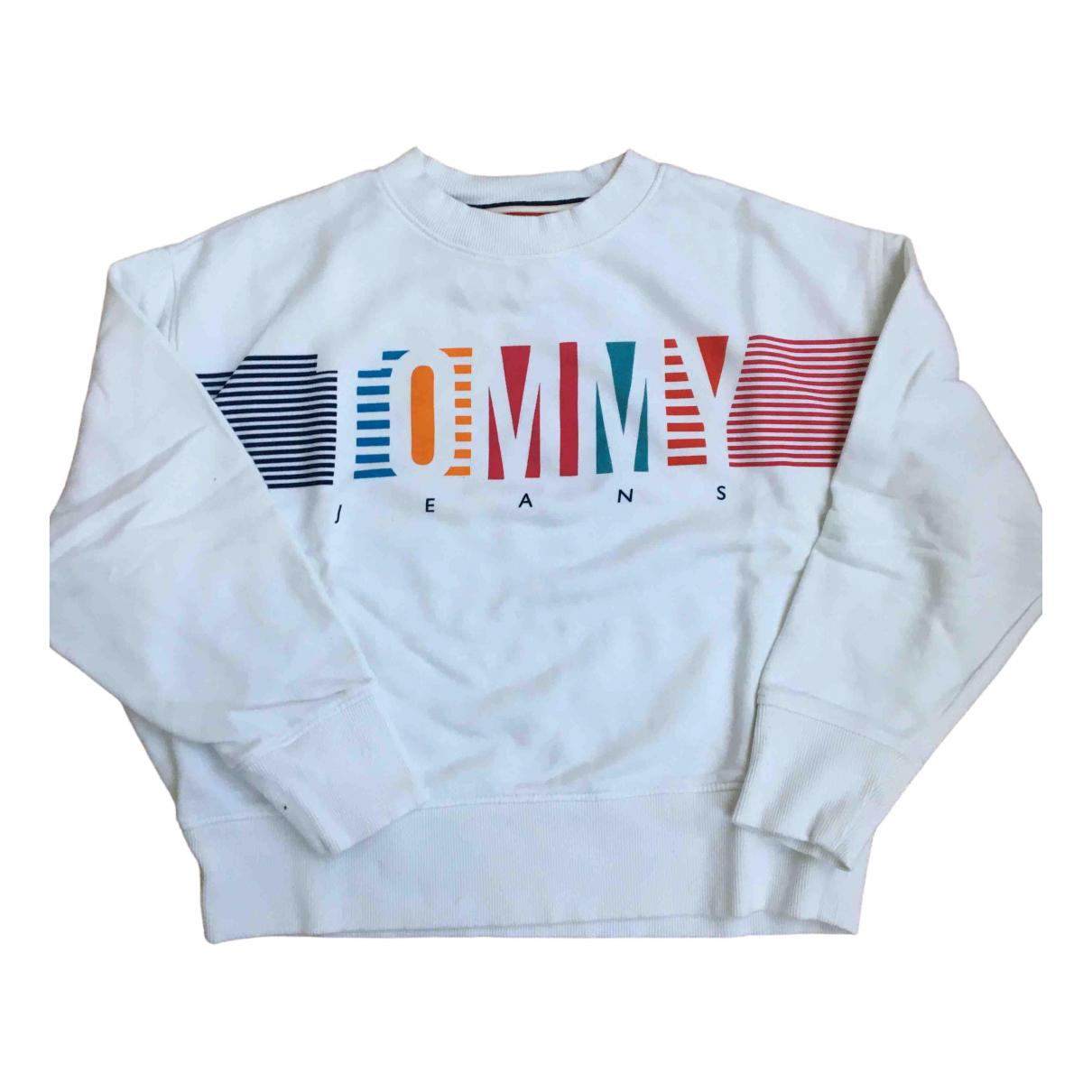 Tommy Jean - Pull   pour femme en coton - blanc