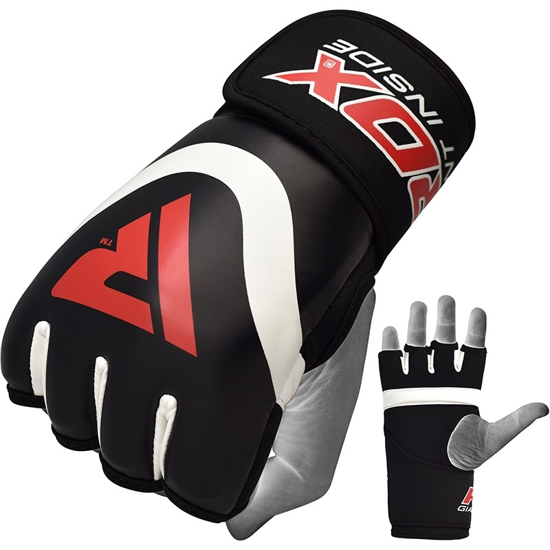 RDX X7 Inner Wrap Training Gloves Neoprene Medium Red/White/Black