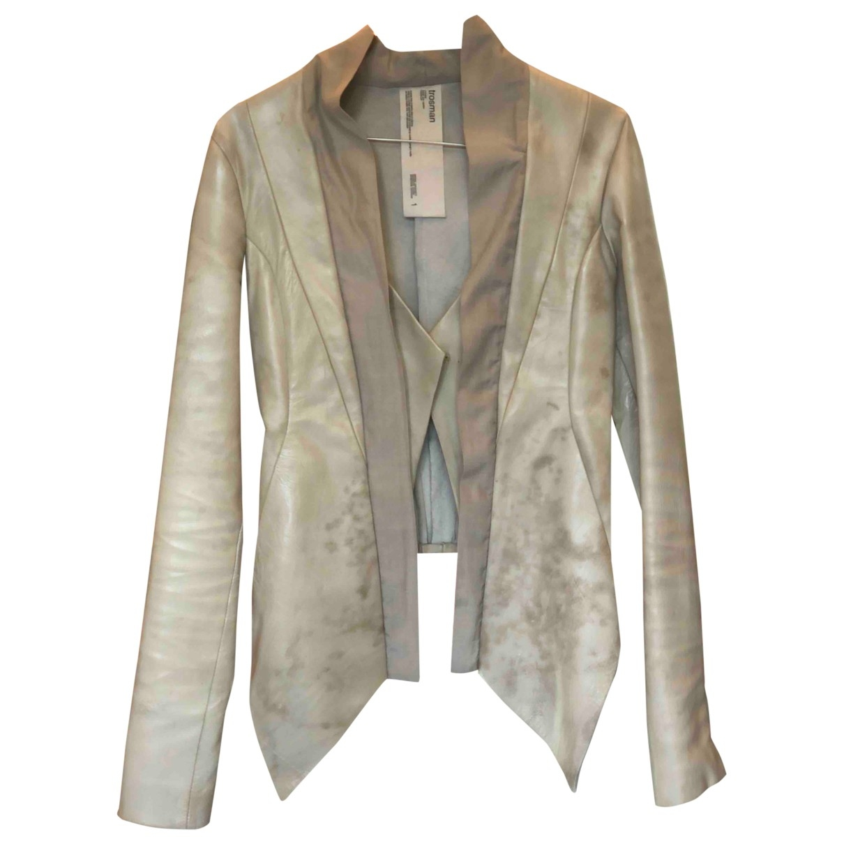 Non Signé / Unsigned \N Leather Leather jacket for Women 38 IT