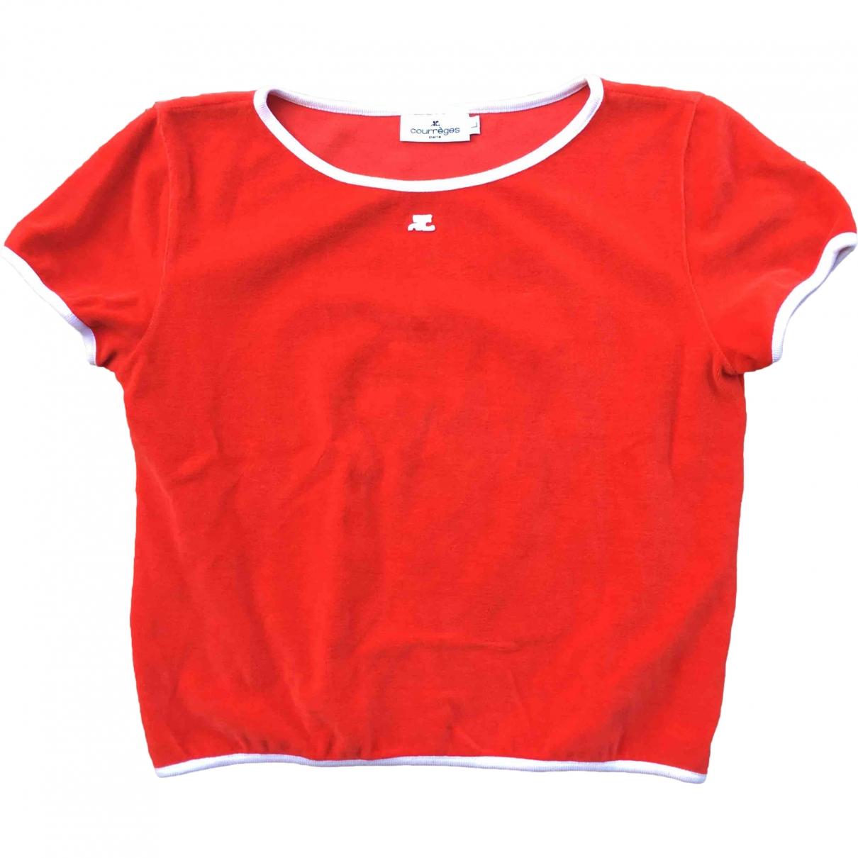 Courreges \N Top in  Rot Samt