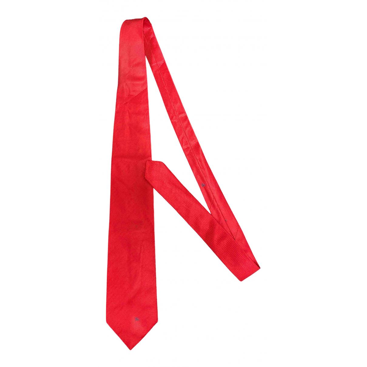 Burberry - Cravates   pour homme en coton - rouge